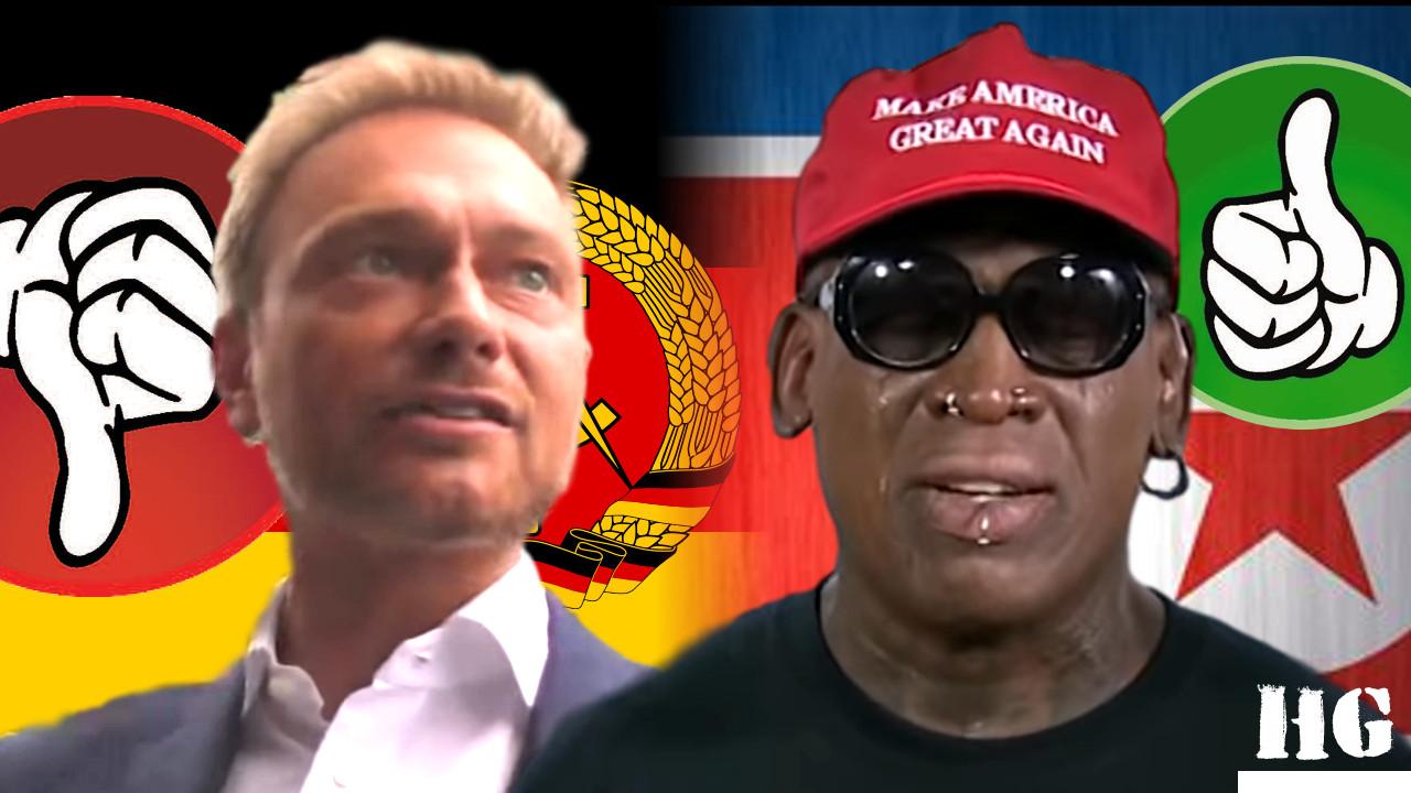Rodman rettet Nordkorea, Lindner = antideutsch, Roth = antihuman
