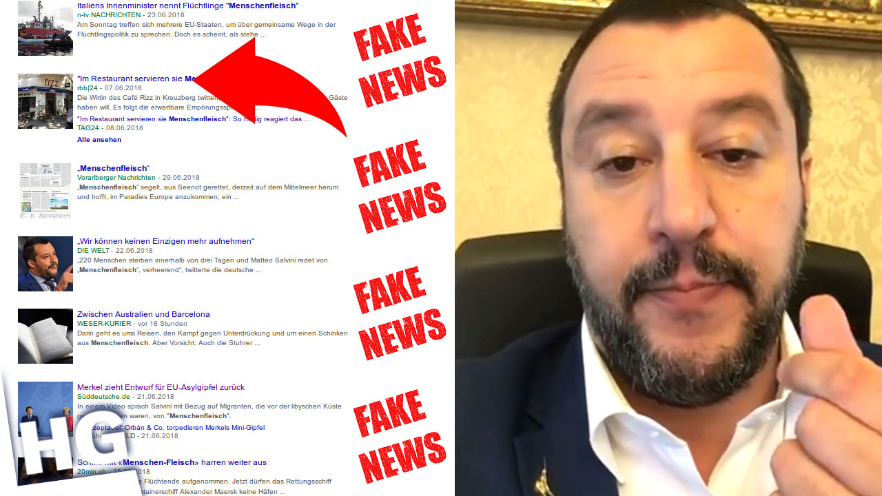 Salvinis Menschenfleisch doch nur FAKE NEWS!
