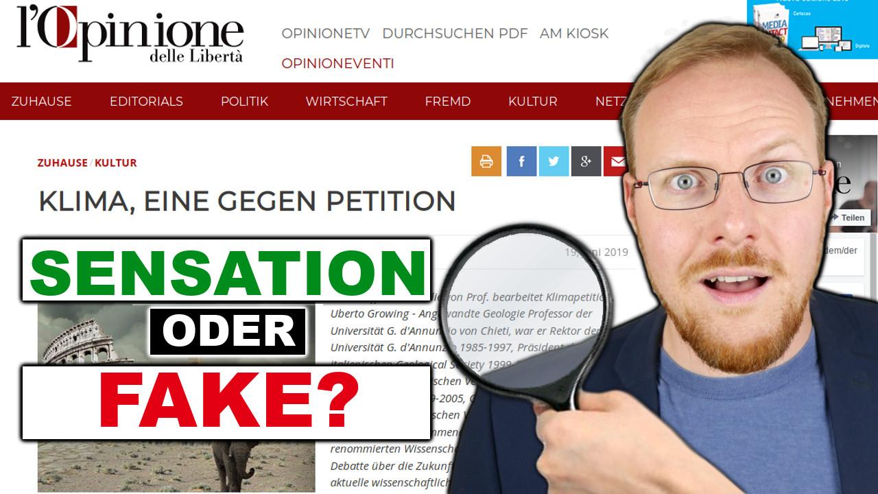 Faktencheck! Ist die CO2 Sensations-Petition echt?